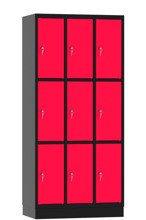 00141891 Szafa skrytkowa, 3 segmenty, 9 skrytek (wymiary: 1950x900x480 mm)