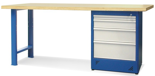 00853690 Stół warsztatowy, 4 szuflady (wymiary: 2100x900x740 mm)