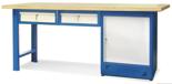 00853692 Stół warsztatowy, 1 drzwi, 2 szuflady (wymiary: 2100x900x740 mm)