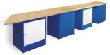 00853708 Stół wyspowy 4-stanowiskowy, 2 drzwi, 8 szuflad (wymiary: 4720x900x740 mm)