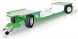 02938396 Wózek sadowniczy z czterema kołami skrętnymi i osiami sztywnymi WS/4S/4SH - z hamulcem najazdowym (ładowność: 1600 kg)