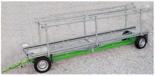 02938400 Wózek sadowniczy pomocniczy z czterema kołami skrętnymi WP-4DL (ładowność: 1300 kg)