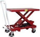 03030138 Wózek platformowy nożycowy (udźwig: 750 kg, wymiary platformy: 1010x520 mm)