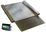 04049002 Waga najazdowa ze stali szlachetnej bez legalizacji (nośność: 750/1500 kg, podziałka: 200/500 g, wymiary: 1000x1000x45 mm)