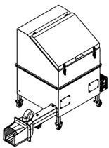 06652837 Automatyczny podajnik do spalania biomasy 1m3 400V 40kW, głowica: żeliwna (paliwo: trociny, wióry, zrębki, kora, brykiet, agrobrykiet, pellet, pestki owoców)