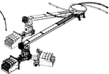 06652876 Podajnik z nagarniaczem spręzynowym 240kW, długość 4m (paliwo: trociny, wióry, zrębki, kora, brykiet, agrobrykiet, pellet, pestki owoców)