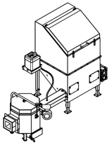06652916 Automatyczny podajnik do spalania biomasy 0,6m3 400V 30kW, głowica: ceramiczna (paliwo: trociny, wióry, zrębki)