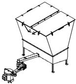 06652922 Automatyczny podajnik do spalania biomasy 10m3 400V 30kW, głowica: ceramiczna (paliwo: trociny, wióry, zrębki)