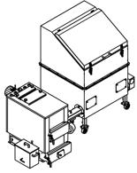 06652960 Automatyczny zestaw do spalania biomasy 1m3 400V 30kW, głowica: żeliwna, bez systemu usuwania popiołu (paliwo: trociny, wióry, zrębki, kora, brykiet, agrobrykiet, pellet, pestki owoców)