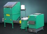 06653044 Automatyczny zestaw do spalania biomasy 2m3 230V 30kW, głowica: ceramiczna, z systemem usuwania popiołu (paliwo: trociny, wióry, zrębki)