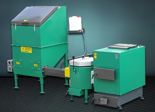 06653082 Automatyczny zestaw do spalania biomasy 6m3 400V 240kW, głowica: ceramiczna, z systemem usuwania popiołu (paliwo: trociny, wióry, zrębki)