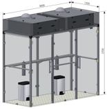 08549344 Pochłaniacz dymu tytoniowego kabinowy SMOKING BOX-2-DUAL (wydajność wentylatora: 960 m3/h)