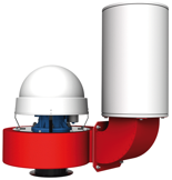 08549376 Wentylator promieniowy dachowy z wylotem pionowym WPA-10-D-3-N 400V (obroty synchroniczne: 3000 1/min, moc: 3 kW, wydajność wentylatora: 6200 m3/h)