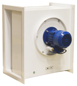 08549503 Wentylator chemoodporny kanałowy BOX-CHEM-250/1500 (obroty synchroniczne: 1500 1/min, moc: 0,25 kW, wydajność wentylatora: 2100 m3/h)