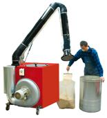 08549621 Urządzenie filtrowentylacyjne do oczyszczania powietrza z suchych i grubych pyłów bez ramion odciągowych ROBUST-2000 (pojemność szuflady: 80 dm3, moc: 1,5 kW, wydajność: 2000 m3/h)