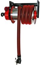 08549689 Odsysacz spalin, bęben odsysacza z napędem sprężynowym, przepustnicą, zestawem wężowym, stoperem gumowym - bez ssawki, wentylatora i wyłącznika silnikowego ALAN/P-U/C-8 (długość węża: 8m, średnica: 150mm)