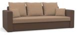 11260949 Kanapa z funkcją spania i poduszkami, sprężyna bonell (wymiary: 225x92 cm)