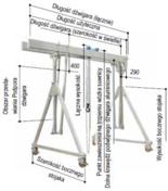 12853237 Aluminiowa suwnica bramowa z podwójnym dźwigarem i wciągnikiem (szerokość w świetle: 5000mm, wysokość: 3270/4420mm, udźwig: 2000 kg)