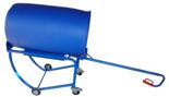 13340559 Wózek czterokołowy ręczny do przewozu plastikowych i stalowych beczek (nośność: 300 kg)