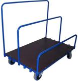 13340568 Wózek platformowy ręczny do przewozu płyt, zwojów, wiązek (nośność: 600 kg)
