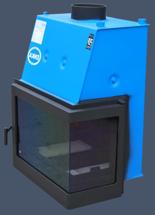 17031543 Wkład kominkowy Enka 15kW Wiktor Prawy UZ - do układów zamkniętych ciśnieniowych zabezpieczonych do 2,5 bar z płaszczem wodnym (prawa boczna szyba)