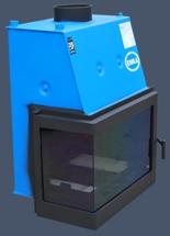 17043648 Wkład kominkowy Enka 13kW Wiktor Lewy UO - układu z naczyniem wyrównawczym otwartym z płaszczem wodnym (lewa boczna szyba)