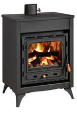23055356 Piec wolnostojący 15kW na drewno i węgiel (górny wylot spalin: 130mm)