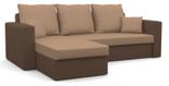 25460940 Narożnik z funkcją spania i poduszkami, pianka (wymiary: 235x140 cm)