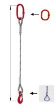 33948360 Zawiesie linowe jednocięgnowe miproSling FK 21,00 (długość liny: 1m, udźwig: 21 T, średnica liny: 44 mm, wymiary ogniwa: 275x150 mm)