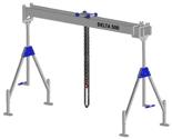 33960042 Wciągarka bramowa aluminiowa z wózkiem pchanym i wciągnikiem łańcuchowym miproCrane DELTA 500S (udźwig: 1500 kg, szerokość: 4100 mm, wysokość: 2240/3660 mm)