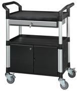 39955505 Wózek warsztatowy, 2 półki, 2 drzwiczki, 1 szuflada