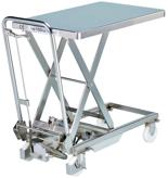 39955549 Wózek platformowy nierdzewny nożycowy (wymiary: 700x450mm, udźwig: 100 kg)