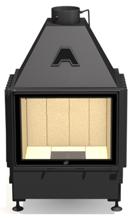 48931814 Wkład kominkowy powietrzny 14kW ARYSTO A11 (szyba płaska podwójna, wymiar frontu: 670 x 510)