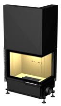 48946356 Wkład kominkowy 24kW ARYSTO A11 WW P DJ H szyba podnoszona do góry, z płaszczem wodnym (prawa boczna szyba bez szprosa, wymiar frontu: 675 x 455 x 510)