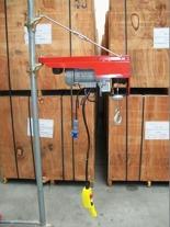 55547200 Wciągarka budowlana elektryczna Bellussi HE 200 CED + zdalne sterowanie z niskim napięciem (udźwig: 200 kg, długość liny: 25m)
