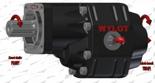 72355196 Pompa hydrauliczna zębata do wywrotu - prawy kierunek obrotów (objętość geometryczna: 133 cm3/obr, zakres obr: 250-1500, ciśnienie nominalne: 21 MPa)