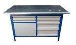 77156896 Stół warsztatowy, 6 szuflad, 1 szafka (wymiary: 2000x750x900 mm)