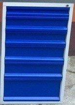 77157002 Szafka do stołu warsztatowego, 6 szuflad (wymiary: 665x580x600 mm)
