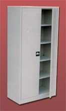 77157089 Szafa biurowa ekonomiczna, 2 drzwi, 4 półki regulowane (wymiary: 1800x970x440 mm)
