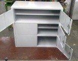 77157258 Szafa narzędziowa 3-poziomowa, 6 drzwi (wymiary: 1000x1000x460 mm)