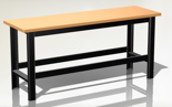 87853388 Stół warsztatowy podstawowy - blat obity blachą (wymiary: 1960x890x600 mm)