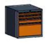 99551571 Szafka typ C, 4 szuflady 300+100+75+75 (wymiary: 625x600x690 mm)