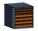 99551582 Szafka typ O, 6 szuflad 100+100+100+100+75+75 (wymiary: 625x600x690 mm)