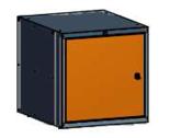 99551587 Szafka typ U, 1 drzwi (wymiary: 625x600x690 mm)