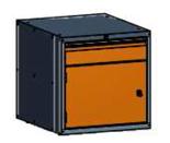 99551588 Szafka typ W, 1 drzwi, 1 szuflada 150 (wymiary: 625x600x690 mm)