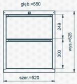 99551623 Szafka typ A, 2 szuflady (wymiary: 625x520x550 mm)