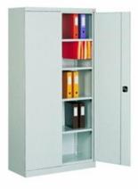 99551655 Szafa biurowa 0,7mm, 2 drzwi, 4 półki (wymiary: 1990x1000x435 mm)