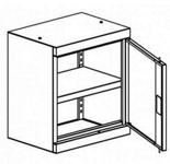 99551663 Nadstawka do szaf biurowych 0,7mm, 1 drzwi, 1 półka (wymiary: 810x600x435 mm)