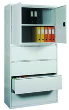 99551732 Szafa aktowa, 2 drzwi , 4 szuflady (wymiary: 1990x1000x435 mm)