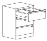99551743 Szafka kartotekowa 0,8-1,5mm, 3 szuflady (wymiary: 1000x775x630 mm)